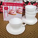 sada 4 odpolední čaj cupcakes silikonové formy dort cup s podšálky zábavné pečení