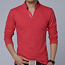 Pánské Bavlna/Polyester Denní nošení/Větší velikosti Tisk Polo Dlouhý rukáv
