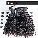 3個/ロットマレーシア深いカーリー波状毛、最高品質のマレーシア人毛エクステンション