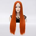 Europski stil modni kose narančasti kvalitetna sintetička perika