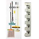 plast nástěnná 5 pozici kuchyň skladování mop smeták držák organizátor nástroj
