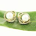 Naušnica Sitne naušnice Jewelry 2pcs Legura / Imitacija bisera / Umjetno drago kamenje Žene Zlatna / Bijela
