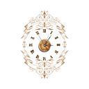 pag®vintage3D効果の木の壁時計22.79 * 15.75インチ/ 57.9 * 40センチメートル