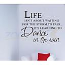 zooyoo® život není čekání u citovat odnímatelný vinylové samolepky na zeď