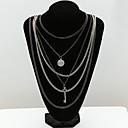 Dámské vrstvené Náhrdelníky Křišťál imitace Diamond 18K zlatá Módní Šperky