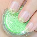 tráva zelená třpytky prášek nail art ozdoby