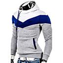 Ležérní Asymetrické - Dlouhé rukávy - MEN - Sweats & Hoodies ( Akryl / Bio bavlna / Viskózové vlákno )
