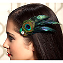 手作りの結婚式の羽の毛の魅惑的な物のヘッドピースは002 fascinators