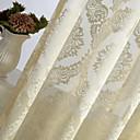 Jedna ploča Dizajnerske / Zemlja / Moderna / Neoclassical / Europska Cvjetni / Botanički Slonovača Bedroom Polyester Sheer Zavjese Shades