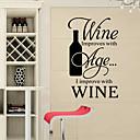 ウォールステッカーウォールステッカースタイル、新しいワイン英単語&PVC壁のステッカーを引用