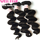 "1Pcs/ Lot 8""-30"" Peruvian Loose Wave Virgin Hair Wefts Natural Black 1B# Human Hair Weave Bundles Tangle Free"