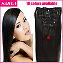 20-26inch (10ks) / set brazilský panna vlasy 10 barev dvoulůžkových útky obrázky pod v přímém klip v lidských prodlužování vlasů
