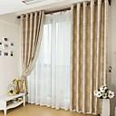 Dvije zavjese Prozor Liječenje Zemlja Neoclassical Europska Living Room Polyester Materijal Blackout Zavjese Zavjese Početna Dekoracija