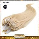 """20 """"izbjeljivač plavuša (# 613) 100s mikro petlje Remy ljudske kose ekstenzije"""