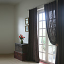 Dva panely Window Léčba Neoklasika / Středomořský / Evropský / Designové / Země / Moderní , Jednolitý Obývací pokoj Směs lnu a bavlny