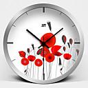 móda štěstí růže Super mute kovové nástěnné hodiny