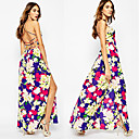 Women's Flower Dresses , Chiffon Sexy/Casual/Print/Party Sleeveless Zhuoxini