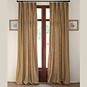 Dvije zavjese Prozor Liječenje Europska / Dizajnerske / Zemlja / Moderna / Neoclassical , Jednobojni Living Room Posteljina / pamuk Blend