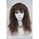 ženske perika smeđa paperjast duge kovrčave kose perika