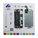 iPhoneの5S磁気ネジチャートマット修理ガイドパッドツール