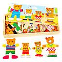 jigsaw zagonetke 3D puzzle / Drvene puzzle Građevni blokovi DIY igračke Drvo Srebrna / Smeđa / Bijela / Siva Male igračkama