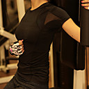 Běh Vrchní část oděvu Dámské Krátké rukávy Nositelný / Lehké materiály / Yumuşak / Ter Emen / Komprese TerylenJóga / Pilates / Fitness /