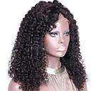 """nezpracované 10 """"-24"""" panna brazilský lidský vlas v přírodní barvě výstřední kudrnaté 150% hustota krajky vpředu paruka"""