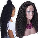 """nezpracované 10 """"-24"""" panna malajské lidský vlas přírodní barva vody vlna 150% hustota krajky vpředu lidské vlasy paruka"""