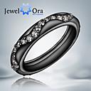 Prstenje Moda Party Jewelry Kubični Zirconia / Pozlaćeni Žene Klasično prstenje 1pc,Univerzalna veličina Crna / Bijela