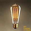 E27 rétro de lumière incandescente grande bouche des ménages Edison de filament de carbone éolien industriel rétro spirale 25w
