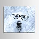 Eläin / Romantiikka Canvas Tulosta One Panel Valmis Hang , Horizontal