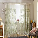 Dvije zavjese Prozor Liječenje Moderna Bedroom Polyester Materijal Zavjese Zavjese Početna Dekoracija For Prozor