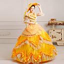 Jednodílné/Šaty Klasická a tradiční lolita Steampunk® / Viktoria Tarzı Cosplay Lolita šaty Žlutá Tisk Polodlouhé rukávy Long LengthŠaty /