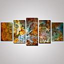 plátno Set Krajina Abstraktní krajinka Tradiční,Pět panelů Horizontálně Tisk Art Wall Decor For Home dekorace