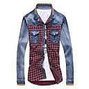 Ležérní Košilový límec - Dlouhé rukávy - MEN - Casual Shirts ( Bavlna )