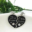 Ogrlice Ogrlice s privjeskom Jewelry Dnevno Kauzalni Heart Shape Srce Prijateljstvo Početno Nakit Legura Žene Djevojke 2pcs Poklon Srebrna