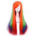 cos perike tri gradijent boja japanska izvorna sufeng duge ravne kose perika
