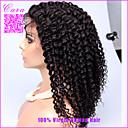 250%の密度ブラジル変態カーリーレースフロントウィッグは黒人女性のための変態巻き毛の完全なレース人間の髪の毛のかつらをアフロ