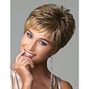 Novi moderan plavuša mješavina boja kratki valovita sintetičke kose perika