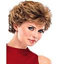 blond kudrnaté špičková kvalita krátké paruka pro ženy