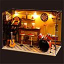 主導のすべての家具ライトランプなどのロマンチックなギフトの誕生日プレゼントマニュアル音楽ダストカバーモデルDIYの木のドールハウス