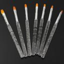 7ks barevné světelné terapie pero transparentní tyč nehty nářadí