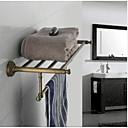 浴室用品セット / タオルウォーマー / アンティーク銅 / ウォールマウント真鍮 /アンティーク /60 CM 24 CM 1.6