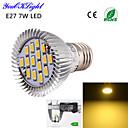 7W E26/E27 LED bodovky A50 15 SMD 5630 600 lm Teplá bílá Ozdobné AC 220-240 / AC 110-130 V 1 ks