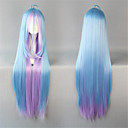 Lolita perika Sweet Lolita Prijelaz boje Extra Long Plav Lolita Perika 105 CM Cosplay Wigs Kolaž Wig Za Žene