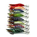 """8pcs ks Shrimp různé barvy 11g g/3/8 Unce,100mm mm/4"""" palec,Dřevo Rybaření na háček"""