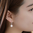 Visací náušnice Perly Slitina Bílá Barva obrazovky Šperky 2pcs