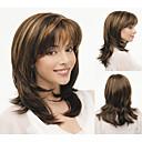 moderan sintetički African American perika srednje dužine valovita kosa vlasulja za žene seksi prirodne perika s bangs sw0045