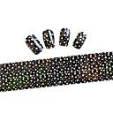 10ks 100cmx4cm ve tvaru hvězdy třpytky na nehty fólie nálepka kutilství krása nehty dekorace nálepka stzxk01-49