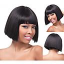 bob syntetické paruky krátký rovné vlasy Blond paruka pro ženy přírodní paruky s Bangs sw0483